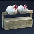 Roosting Hens, pair